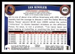 2011 Topps #405  Ian Kinsler  Back Thumbnail