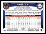 2011 Topps #444  Brett Cecil  Back Thumbnail