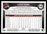 2011 Topps #496  Gavin Floyd  Back Thumbnail