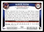 2011 Topps #431  Marcos Mateo  Back Thumbnail