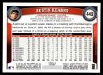 2011 Topps #449  Austin Kearns  Back Thumbnail