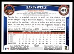 2011 Topps #481  Randy Wells  Back Thumbnail