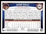 2011 Topps #481  Randy Wells  Back Thumbnail