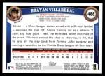 2011 Topps #488  Brayan Villarreal  Back Thumbnail