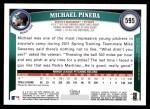 2011 Topps #595  Michael Pineda  Back Thumbnail