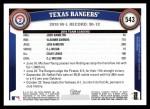 2011 Topps #543   Rangers Team Back Thumbnail