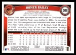 2011 Topps #508  Homer Bailey  Back Thumbnail