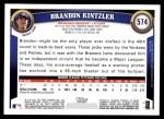 2011 Topps #574  Brandon Kintzler  Back Thumbnail