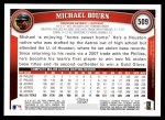 2011 Topps #509  Michael Bourn  Back Thumbnail