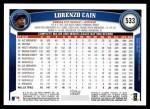 2011 Topps #533  Lorenzo Cain  Back Thumbnail