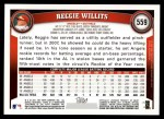 2011 Topps #559  Reggie Willits  Back Thumbnail