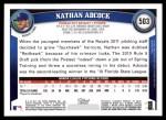 2011 Topps #503  Nathan Adcock  Back Thumbnail
