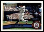 2011 Topps #550  Joe Mauer  Front Thumbnail