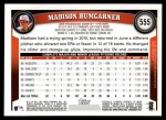 2011 Topps #555  Madison Bumgarner  Back Thumbnail