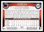 2011 Topps #549  Jayson Nix  Back Thumbnail