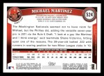 2011 Topps #524  Michael Martinez  Back Thumbnail