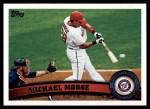 2011 Topps #518  Michael Morse  Front Thumbnail