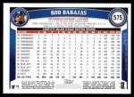 2011 Topps #575  Rod Barajas  Back Thumbnail