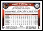 2011 Topps #566  Jordan Zimmermann  Back Thumbnail