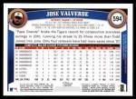 2011 Topps #594  Jose Valverde  Back Thumbnail