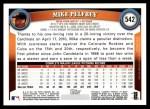 2011 Topps #542  Mike Pelfrey  Back Thumbnail