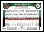 2011 Topps #567  Dallas Braden  Back Thumbnail