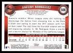 2011 Topps #506  Aneury Rodriguez  Back Thumbnail
