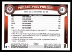 2011 Topps #511   Phillies Team Back Thumbnail