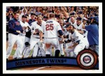 2011 Topps #614   Twins Team Front Thumbnail