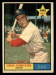 1961 Topps #118  Chris Cannizzaro  Front Thumbnail