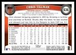 2011 Topps #636  Chris Tillman  Back Thumbnail