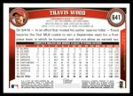 2011 Topps #641  Travis Wood  Back Thumbnail