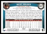 2011 Topps #637  Ricky Nolasco  Back Thumbnail