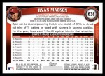 2011 Topps #638  Ryan Madson  Back Thumbnail