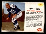 1962 Post #145  Jerry Tubbs  Front Thumbnail