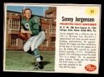 1962 Post #37  Sonny Jurgenson  Front Thumbnail