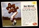 1962 Post #67  Bobby Mitchell  Front Thumbnail
