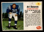 1962 Post #79  Art Donovan  Front Thumbnail