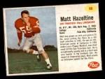 1962 Post #96  Matt Hazeltine  Front Thumbnail
