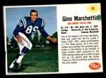 1962 Post #81  Gino Marchetti  Front Thumbnail