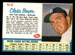 1962 Post #3  Clete Boyer   Front Thumbnail