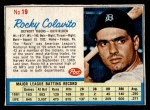 1962 Post Cereal #19  Rocky Colavito   Front Thumbnail