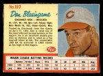 1962 Post #117  Don Blasingame   Front Thumbnail