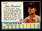 1962 Post Cereal #11  John Blanchard   Front Thumbnail