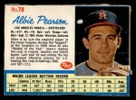 1962 Post Cereal #78  Albie Pearson   Front Thumbnail