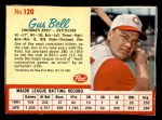 1962 Post #120  Gus Bell   Front Thumbnail
