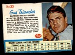 1962 Post Cereal #33  Gus Triandos   Front Thumbnail