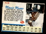 1962 Post Cereal #51  Minnie Minoso   Front Thumbnail