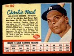 1962 Post Cereal #102  Charlie Neal   Front Thumbnail