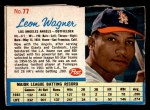 1962 Post Cereal #77  Leon Wagner   Front Thumbnail